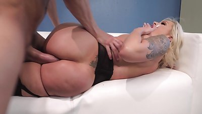 Cougar milf tries anal at work with her boss