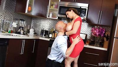 Sara Jay Fucks Hard Cock in the Kitchen!