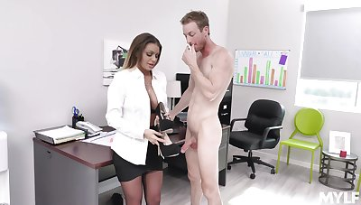 Fucking on the office directorship with disputable secretary Brooklyn Chase