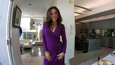 Lisa Ann is dressed to mad about and that little one loves younger males