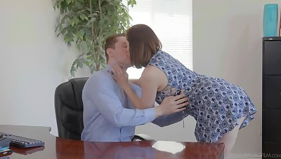 Slutty wife Enthrone Syre is cheating unaffected by her old husband with young accountant