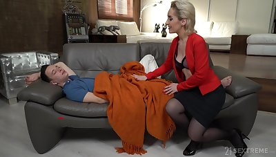 Young man has no option but to fuck his sex-starved stepmom Di Devi