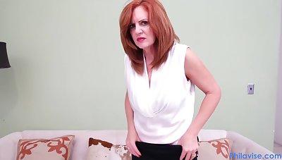 MILF sucks her therapists dick in POV