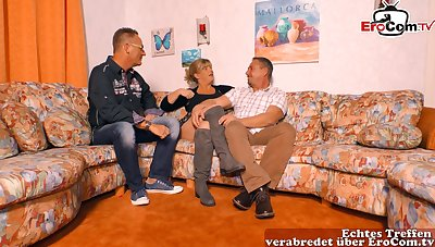 German homemade threesome casting party