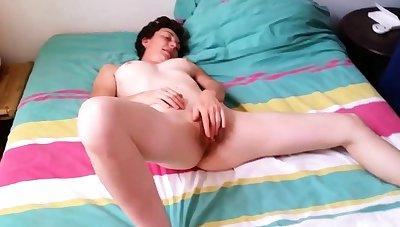French Slut Unladylike Cumming While Jerking a Cock