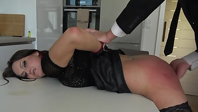 Rough bondage sex excites submissive Barbara Bieber immensely