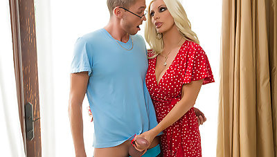 Busty Milf Brittany Andrews fucks young cock