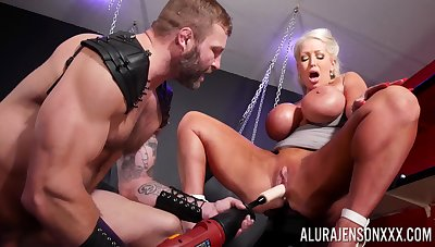 Estimated BDSM pussy and anal for a big ass cougar on fire