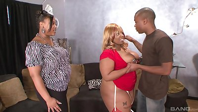 Fearless ebony with fat ass, crazy home BBW anal with the son