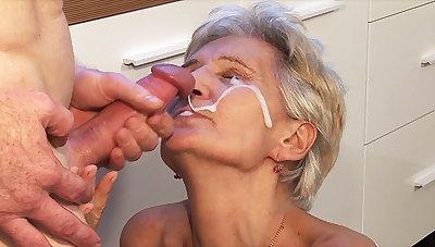 big cum load shot in grandmas eye