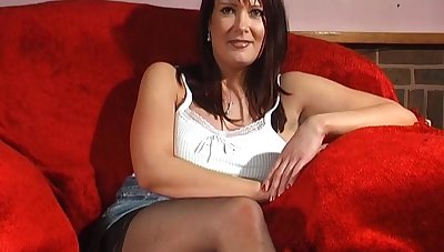 Natural tits wife Tanya Cox enjoys playing with a sex toy