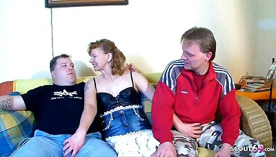 Consummate German Mature Team of two get First Threesome with Stranger
