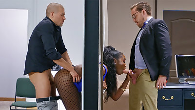 Insatiable executives ravaged stuck bootylicious dark-hued apropos the boundary