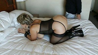 Marilyn Hotwife getting spanked